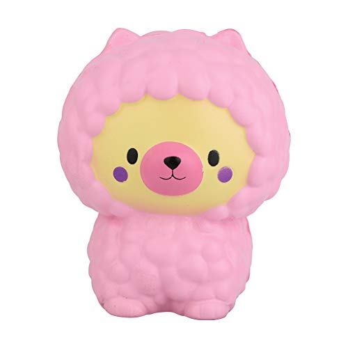 Gbell  Anxiety Stress Relief Toys for Kids Adorable Llamas Sheep Slow Rising Fruits Scented Simulation Cute Animals Toys Gift for Kids Lovely Stress Relief Toy (Pink) ()