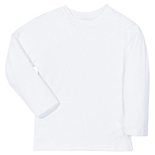 Kinderbutt Langarmshirt Interlock-Jersey weiß Größe 110 / 116