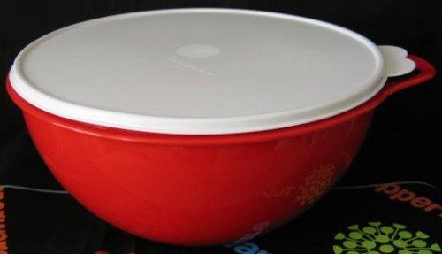 Tupperware Red Thatsa Bowl 32 Cup Mixing Bowl