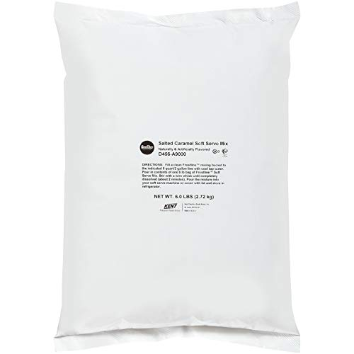 Frostline Salted Caramel Soft Serve Mix, Naturally & Artificially Flavored, 6 Pound Bag (Pack of 6)