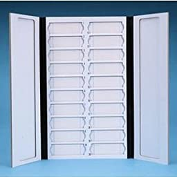 Karter Scientific 212A2 Tray for Microscope Slides, with Lid, Cardboard, Holds 20 Slides (Pack of 5)