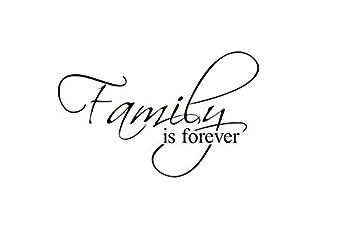 *Family Is Forever* Englische Sprüche Wandsticker Wandbild Wandtattoo  Wandaufkleber Wandbilder Aufkleber Deko. PVC
