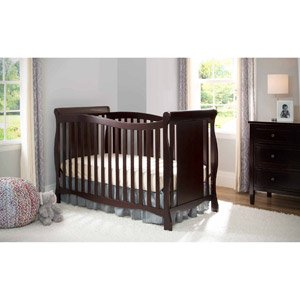 Delta Brookside 4-in-1 Fixed-Side Crib, White