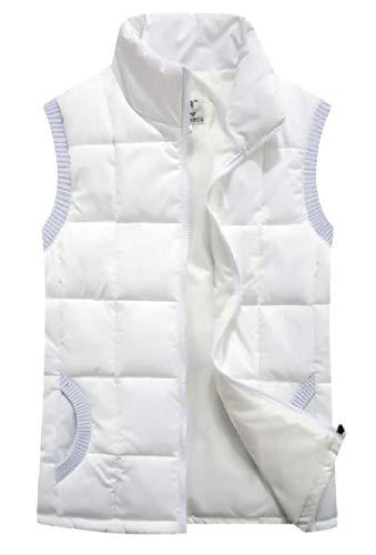 カフェ考案する削除するFly Year-JP レディースベストスタンドカラー軽量ダウンパットキルトジャケットコート
