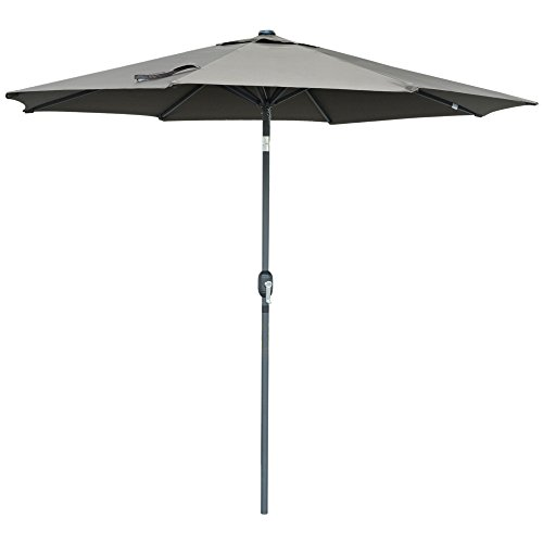 SNAIL Aluminum 9 foot WindProof Push Button Tilt Outdoor Patio Umbrella Pool Deck Garden Table S ...