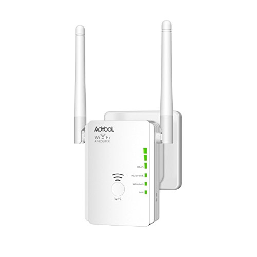 Wifi Range Extender Aoyool 11AC 300Mbps Wifi Repeater with 2 External Antennas Wifi Signal Booster Wireless lan Repeater Supports Repeater/Access Point/Router Mode Wifi Amplifier Compatible with Smar