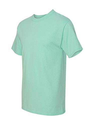 Hanes Beefy-T Adult Short-Sleeve T-Shirt,Clean Mint,Large