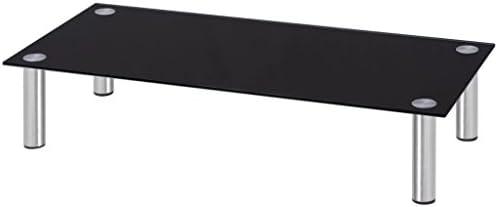 SHENGFENG TV Cristal Vello Monitor Cabezal de la Pantalla Elevador Negro Mesa de TV Cristal Monitor de paragüero (80 x 35 x 17 cm: Amazon.es: Juguetes y juegos