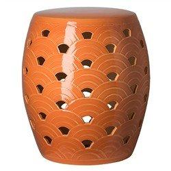 Asian Attractive Bold Tangerine Wave Ceramic Garden (Emissary Accent)