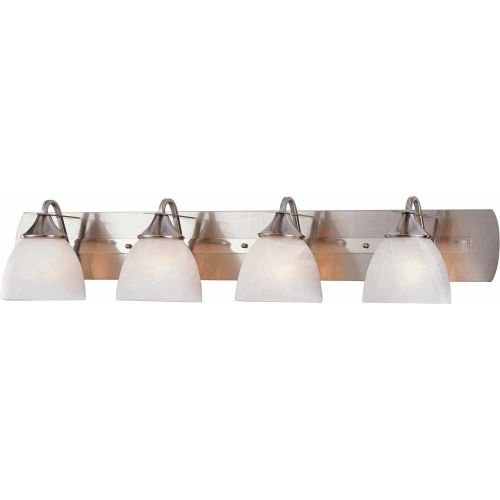 Volume Lighting V4844-33 Durango Vanity Fixture, Maximum Four 100 Watt Incandescent Medium Base Bulbs, 43'' , Brushed Nickel, 9'' x 48'' x 9'' by Volume Lighting (Image #1)
