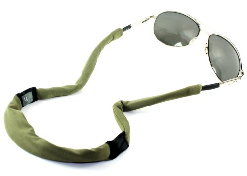 Hides Classic Eyewear Retainer Case and Cleaner (Olive) - Olive Microfiber Overall