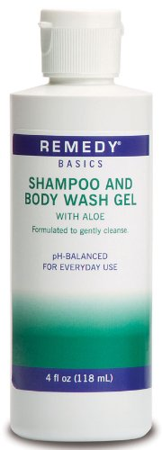 Medline MSC092SBW04H Remedy Basics Shampoo and Body Wash Gel, 4oz. by Medline