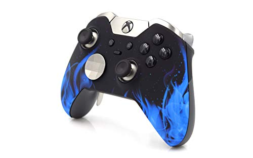 New Flame Design Faceplate - Xbox One Elite Controller | 7 Watts Rapid Fire Mod | Limited Edition Blue Flames