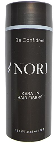 Nor1 Keratin Hair Building Fibers: Hair Fiber Filler and Thickener for Men and Women - Cover Up and Concealer for Thinning Areas or Minor Bald Spot - Thicker, Fuller Hair in Seconds - 25 grams, White