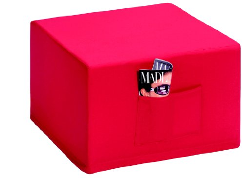 Badenia-Bettcomfort-03610114502-Madrid-Futn-convertible-en-asiento-color-azul-oscuro-con-funda-roja-Importado-de-Alemania