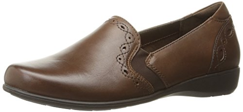 Aravon Women's Adalyn-AR Flat,Brown,7.5 D US