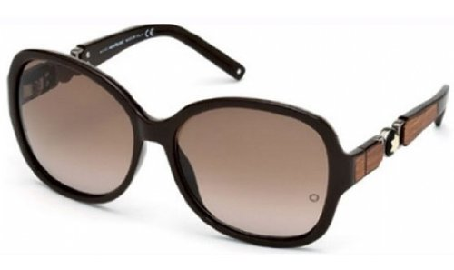 Mont Blanc MB 420/S 48F Brown Oversized (Mont Blanc Brown Sunglasses)