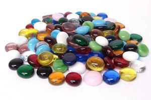 System 96 Glass Pebbles- Mixed Color Assortment - 96 COE - 1/2 Pound Bag