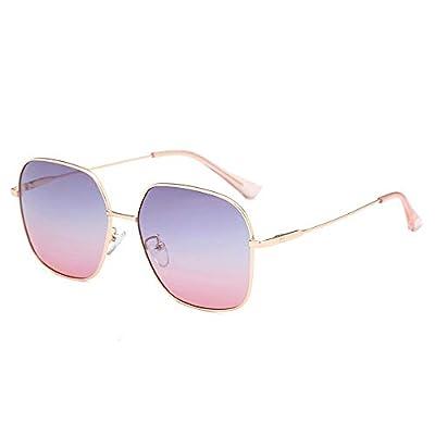 FeliciaJuan Vintage Polarized Rectangular Metal Frame Sunglasses 100% UV Blocking