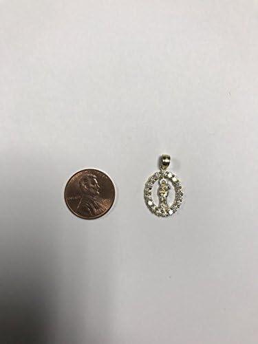 Ice on Fire Jewelry 14k White Gold Muerte Pendant