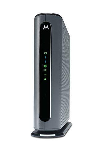 - MOTOROLA MG7700 24X8 Cable Modem Plus AC1900 Dual Band WiFi Gigabit Router with Power Boost, 1000 Mbps Maximum DOCSIS 3.0 - Approved by Comcast Xfinity and Cox