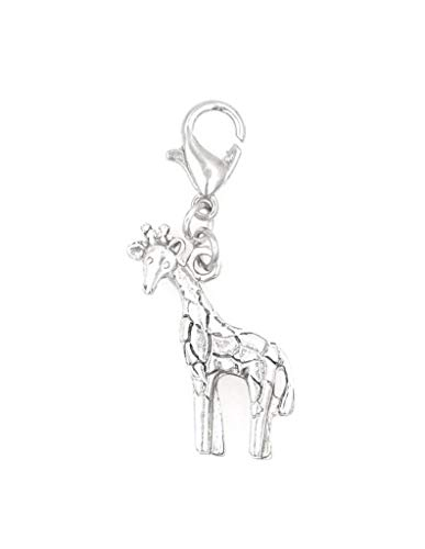 - Giraffe Clip on Charm Perfect for Necklaces and Bracelets 102Ah