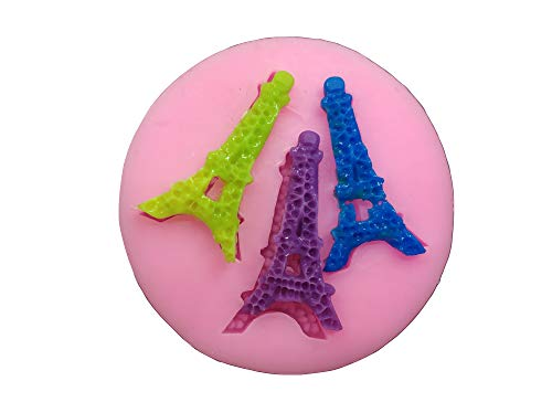 3 Cavity Eiffel Tower Silicone Fondant Mold For DIY Cake Cupcake Decorating Fondant Silicone Sugar Craft Molds -