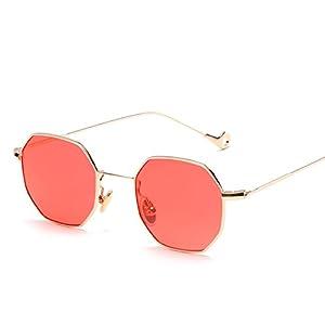 tinted sunglasses women small polygon frame design vintage sunglasses for men Retro,JR6