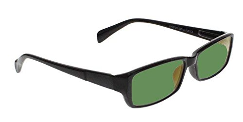 BoroView Shade #3 - Glass Working Spectacles in Black Unisex Plastic Frame - 53-16-140, Spring - Glass Lenses Vs Plastic