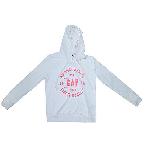 GAP Women's American Classics Hoodie Sweater (M, White) (Gap Drawstring)