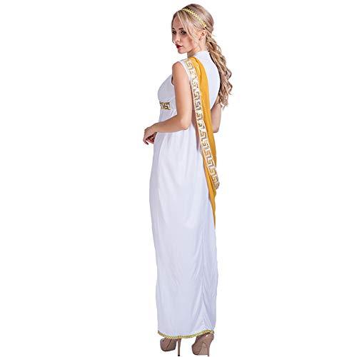 Halloween V A Con white Risilays Abiti White Maschera In Scolpiti Costumi Di Spettacolo Romane Donna Stile Etnici Da Scollo Pqq7EwzCx