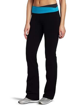 Calvin Klein Performance Women's Long Pant, Black/Atlantis, X-Small