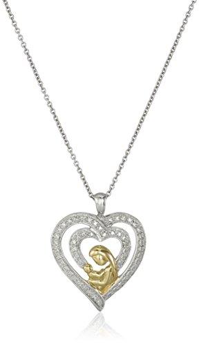 Yellow Sterling Diamond Pendant Necklace