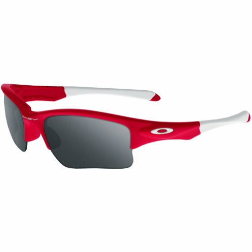 (Oakley Quarter Jacket Non-Polarized Iridium Rectangular Sunglasses,Redline,61 mm (Youth Fit))