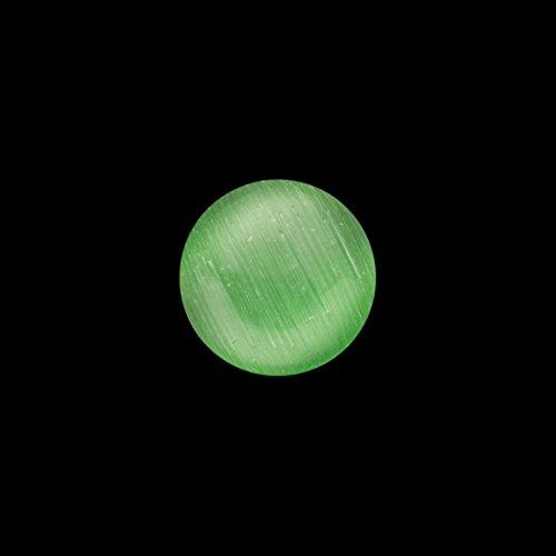 30pcs Round Emerald Green Cat's Eye Glass Cabochons Embellishments 8mm