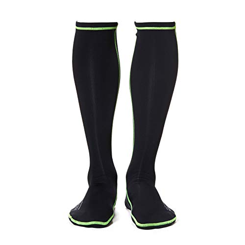 (WETSOX Wader Sox, RNF Black, Size Medium, Frictionless Wading Socks, Get in and Out of Any Wader or Boot Easily, 1mm Neoprene Keeps Feet Warm Wet or Dry)