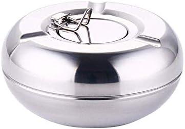 葉巻灰皿, 12センチメートル直径:ふた防風ステンレス封印されたドラムオフィス灰皿醤油@ 12cmの直径、サイズの灰皿灰皿 (Size : 12cm Diameter)
