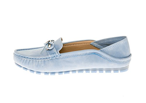 Comfort on Flats Sky CALICO Women's Loafers Slip Shoes Mocassins Blue KIKI wcaaSEYq4