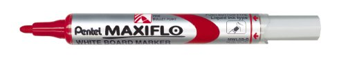 Pentel Maxiflo Dry Wipe Fine Bullet Point Marker - Red - Single pen Pentel Chisel Point Pen