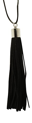 Premium Black Essential Leather Tassel