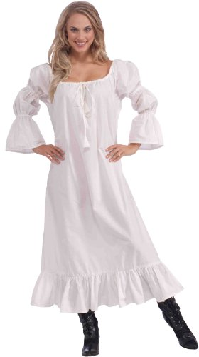 [Forum Novelties Women's Medieval Chemise Costume Accessory, White, One Size (Best Fit 14/16)] (Renaissance Costumes Womens)