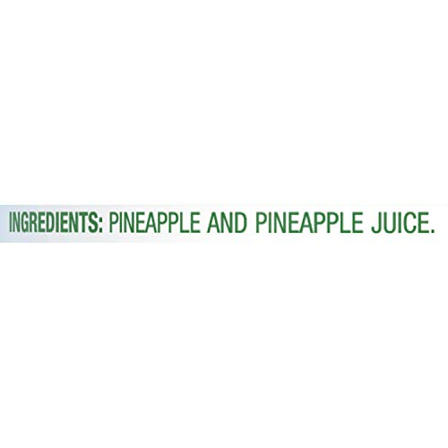 Dole, Canned Pineapple 100, Crushed in Juice,8 Ounce (Pack of 12)