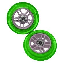 Razor Scooter Replacement Wheels Set with Bearings - Green