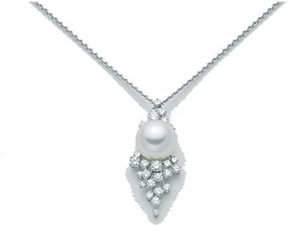 Gargantilla Nimei en oro blanco 18 quilates con perla australiana