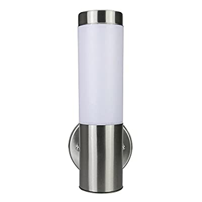 Light Blue™ LED Waterproof Cylinder Light Fixture, Indoor/Outdoor Lighting with Opal Glass Shades, Antique Brushed Nickel, 3000K Warm White, 500 Lumens, Energy Star Dimmable