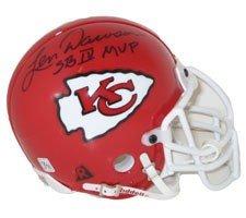 (Len Dawson Autographed Authentic Mini Helmet with