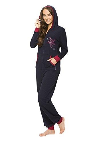 Maluuna Women's Casual Jumpsuit Sleepwear M navy
