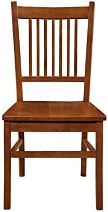 Marbrisa Slat Back Side Chairs Sienna Brown Set of 2