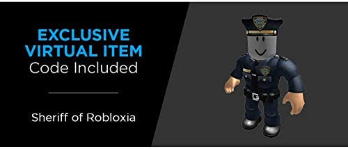 Roblox Code For Bad Guy Amazon Com Roblox Action Collection The Neighborhood Of Robloxia Patrol Car Vehicle Includes Exclusive Virtual Item Toys Games