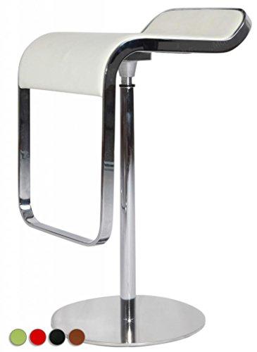 MLF® LEM Style Piston Bar Stool in Top Italian Leather (White)